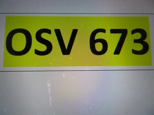 Osv 673 private reg For Sale (picture 1 of 1)