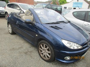 2005 CONVERTIBLE 206 BLUE WITH LEATHER TRIM  MAY 2022 MOT 87K For Sale (picture 3 of 6)
