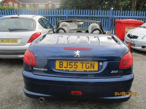 2005 CONVERTIBLE 206 BLUE WITH LEATHER TRIM  MAY 2022 MOT 87K For Sale (picture 4 of 6)