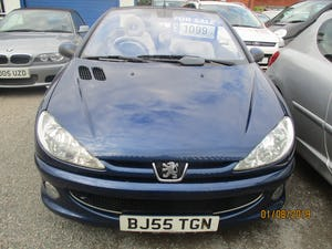 2005 CONVERTIBLE 206 BLUE WITH LEATHER TRIM  MAY 2022 MOT 87K For Sale (picture 5 of 6)