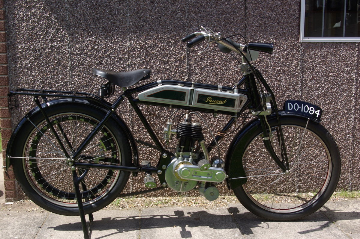1913 Peugeot 500cc 3.5 h.p. Single  Motorcycle SOLD (picture 1 of 6)