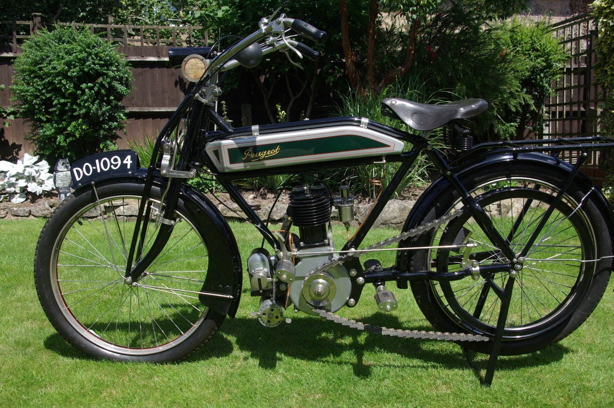 1913 Peugeot 500cc 3.5 h.p. Single  Motorcycle SOLD (picture 6 of 6)