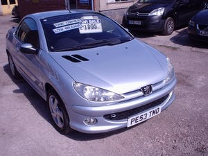 2004 PEUGEOT 206 CONVERTIBLE LOW MILEAGE For Sale (picture 1 of 11)
