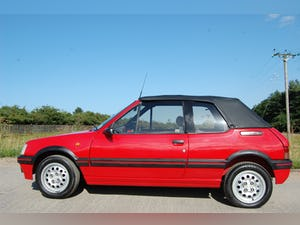 1991 PEUGEOT 205 CTi 1.6 GTi CONVERTIBLE MODERN CLASSIC LOW For Sale (picture 2 of 12)
