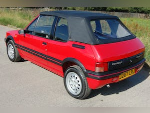 1991 PEUGEOT 205 CTi 1.6 GTi CONVERTIBLE MODERN CLASSIC LOW For Sale (picture 3 of 12)