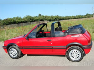 1991 PEUGEOT 205 CTi 1.6 GTi CONVERTIBLE MODERN CLASSIC LOW For Sale (picture 8 of 12)
