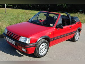 1991 PEUGEOT 205 CTi 1.6 GTi CONVERTIBLE MODERN CLASSIC LOW For Sale (picture 9 of 12)