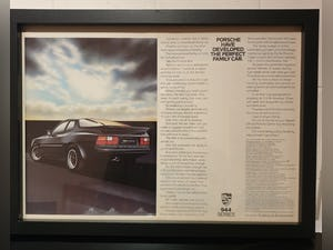 1984 Original 1985 Porsche 944 Framed Advert For Sale (picture 1 of 3)