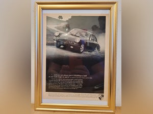 1978 Original 1967 Porsche 911 Framed Advert For Sale (picture 1 of 3)