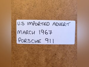 1978 Original 1967 Porsche 911 Framed Advert For Sale (picture 2 of 3)