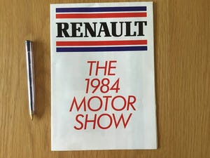Renault the 1984 motor show model lineup brochure  For Sale (picture 1 of 2)