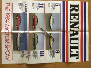 Renault the 1984 motor show model lineup brochure  For Sale (picture 2 of 2)