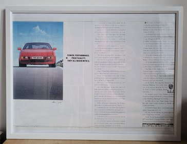 Picture of 1966 Original 1986 Porsche 924 S Framed Advert For Sale
