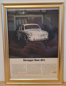 Picture of 1977 Original 1967 Volvo Amazon Framed Advert For Sale