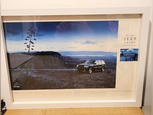 1991 Original 1996 Jeep Grand Cherokee Framed Advert For Sale (picture 1 of 3)