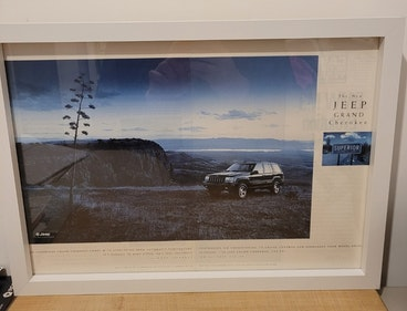 Picture of 1991 Original 1996 Jeep Grand Cherokee Framed Advert For Sale