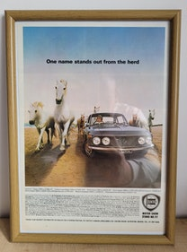 Picture of 1991 Original 1968 Lancia Fulvia Framed Advert For Sale