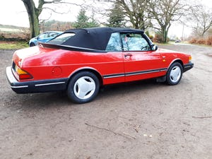 1990 Saab900i se16v convertible 1991 Imaculate full mot For Sale (picture 1 of 6)