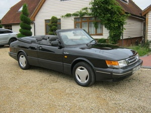 Picture of 1991 SAAB 900 TURBO 16S CONVERTIBLE. FACTORY BLACK. NEW ROOF SOLD