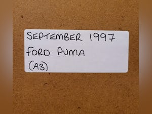 1981 Original 1997 Ford Puma Framed Advert For Sale (picture 2 of 3)