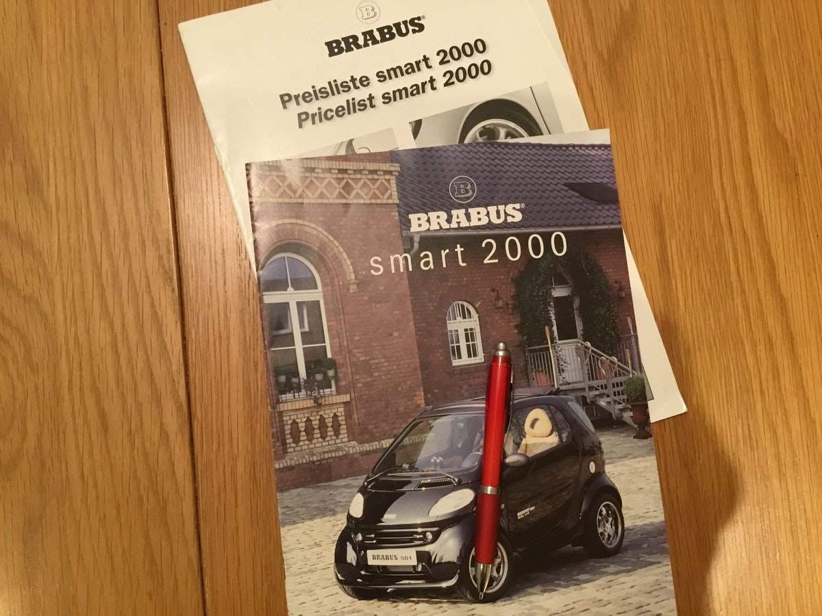 Smart Brabus 2000 brochure For Sale (picture 1 of 1)