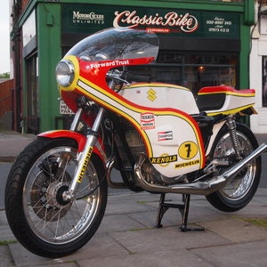 Picture of 1974 Suzuki GT 500 Barry Sheene Replica Cafe Racer. SOLD