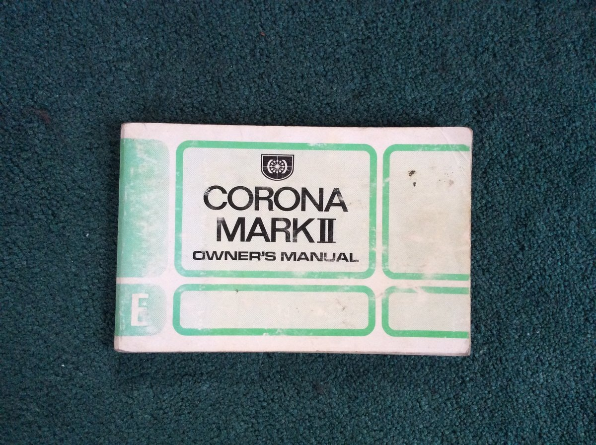 Toyota Corona Owners manual For Sale (picture 1 of 2)