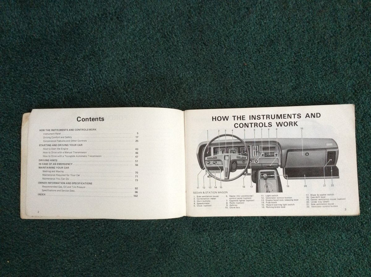 Toyota Corona Owners manual For Sale (picture 2 of 2)