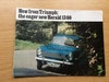 Sales brochure for Triumph Herald 13/60
