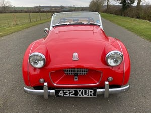 1955 Triumph TR2. Red with tan interior and a black hood For Sale (picture 2 of 12)