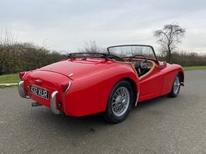 1955 Triumph TR2. Red with tan interior and a black hood For Sale (picture 5 of 12)