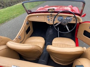1955 Triumph TR2. Red with tan interior and a black hood For Sale (picture 9 of 12)
