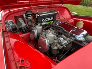 1955 Triumph TR2. Red with tan interior and a black hood For Sale (picture 12 of 12)