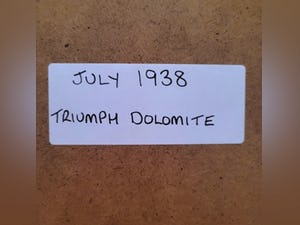 1981 Original 1938 Triumph Dolomite Framed Advert For Sale (picture 2 of 3)