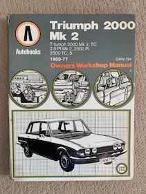 Picture of Classic Triumph 2000 Workshop Manual For Sale