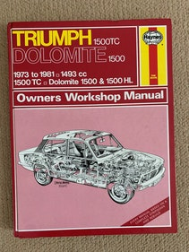 Picture of Classic Triumph Dolomite Repair Manual  -   Only  £ 5 For Sale