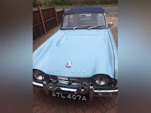 1962 Triumph TR4 in Powder blue LHD. For Sale (picture 1 of 11)