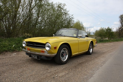 Picture of 1973 TRIUMPH TR6 MIMOSA YELLOW WITH BLACK INTERIOR SOLD