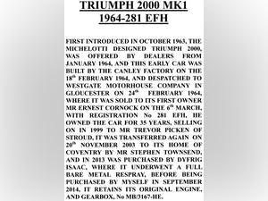 1964 Triumph 2000 MK1 in great condition for 57 years old For Sale (picture 9 of 9)