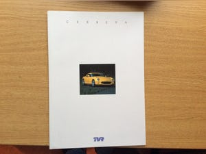 TVR SALES BROCHURE For Sale (picture 1 of 2)