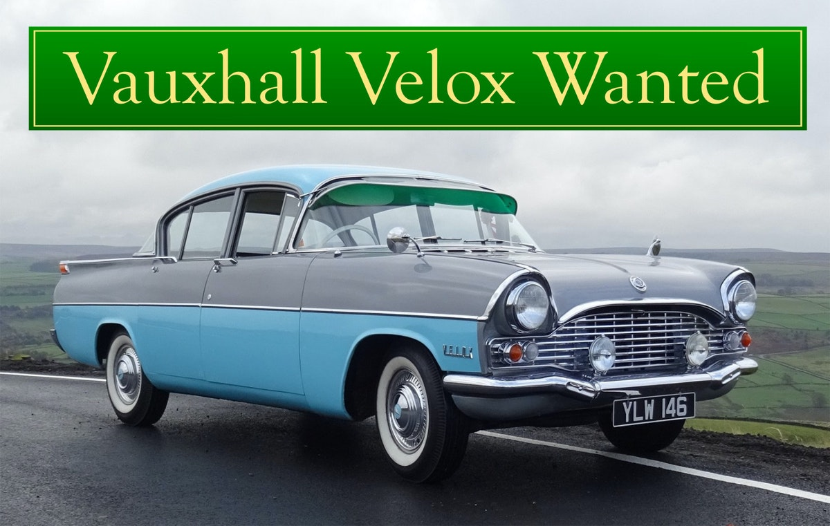 VAUXHALL VELOX WANTED, CLASSIC CARS WANTED, INSTANT PAYMENT (picture 1 of 6)