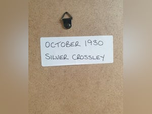 1965 Original 1930 Silver Crossley Framed Advert  For Sale (picture 2 of 3)