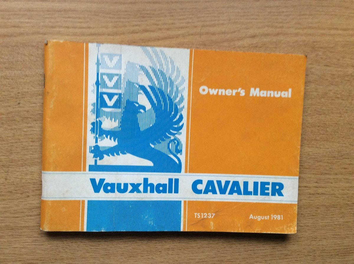 1981 VAUXHALL CAVALIER OWNERS MANUAL  For Sale (picture 1 of 3)