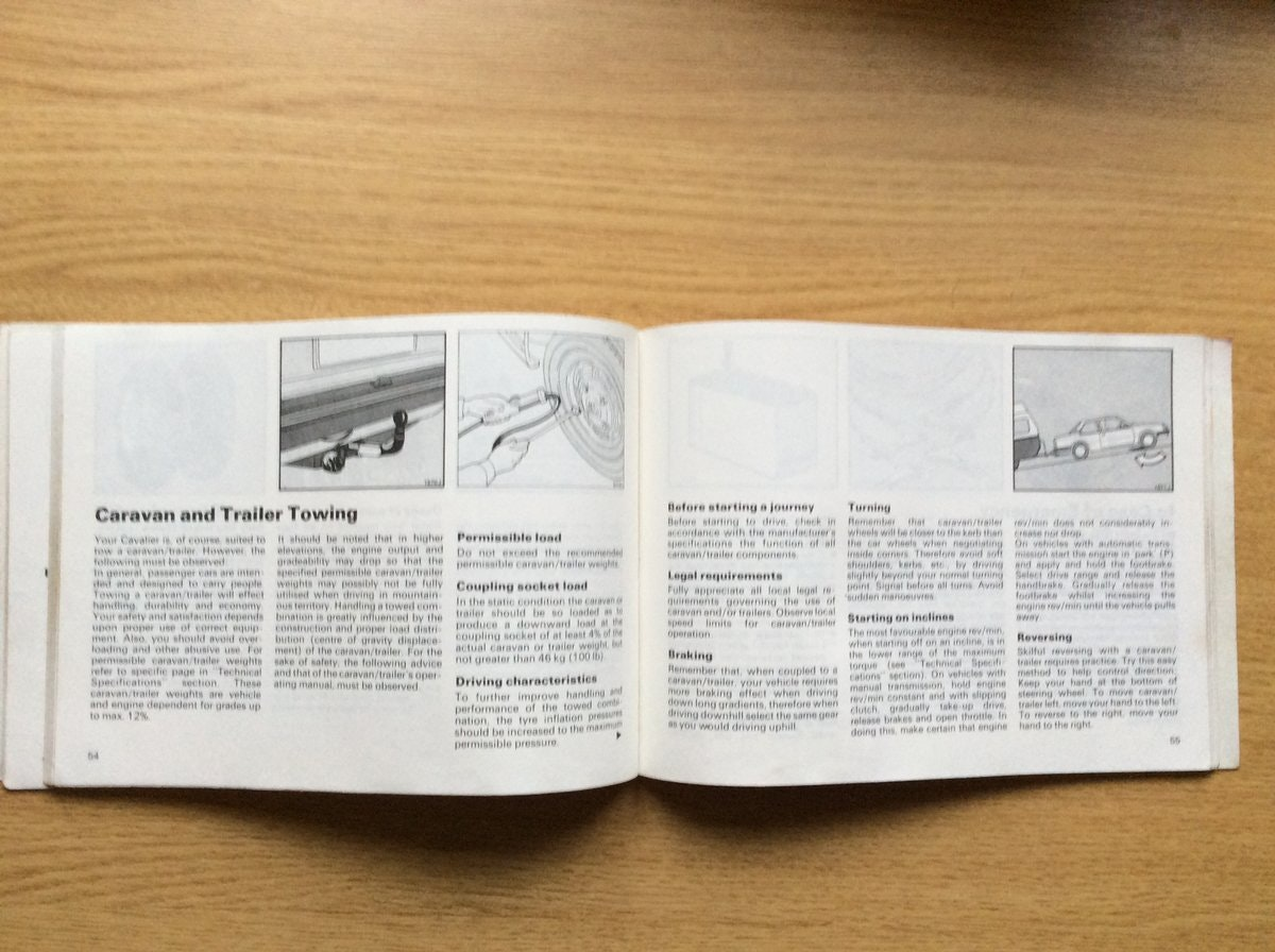 1981 VAUXHALL CAVALIER OWNERS MANUAL  For Sale (picture 3 of 3)