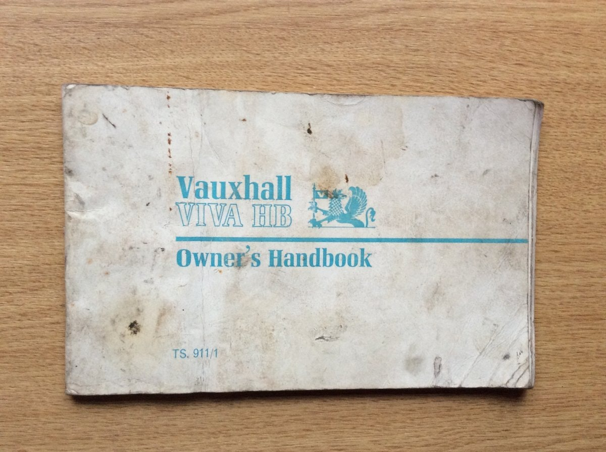 1968 Vauxhall VIVA HB OWNERS HANDBOOK  For Sale (picture 1 of 3)