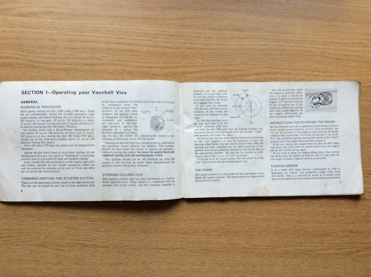 1968 Vauxhall VIVA HB OWNERS HANDBOOK  For Sale (picture 2 of 3)