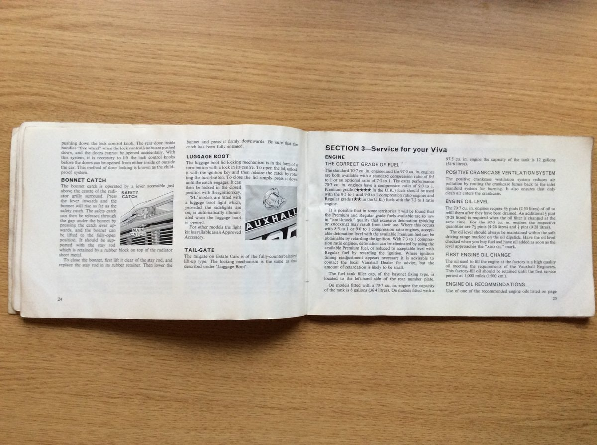 1968 Vauxhall VIVA HB OWNERS HANDBOOK  For Sale (picture 3 of 3)