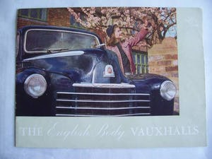 Australian sales brochure VAUXHALL VELOX - WYVERN 1949 For Sale (picture 1 of 6)