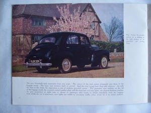 Australian sales brochure VAUXHALL VELOX - WYVERN 1949 For Sale (picture 2 of 6)