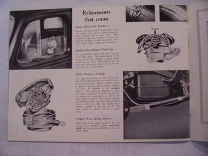 Australian sales brochure VAUXHALL VELOX - WYVERN 1949 For Sale (picture 6 of 6)